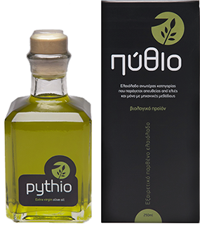 Pythio | Premiium Organic Extra Virgin Olive Oil Packaging